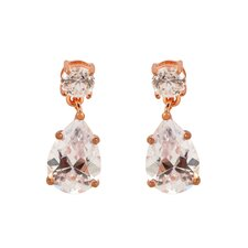 Pear Shape Cubic Zirconia Drop Earrings