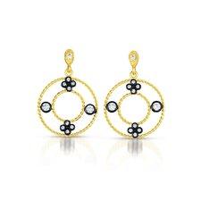 Cubic Zirconia Round Earrings
