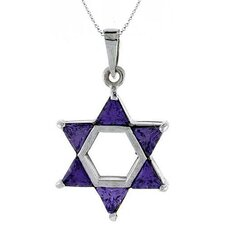 Small Cubic Zirconia Star Of David Pendant
