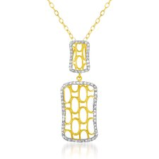 Rectangular Square Shaped Cubic Zirconia Pendant