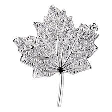 Leaf Cubic Zirconia Pin