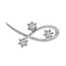 Flower Cubic Zirconia Pin