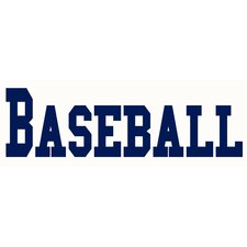 Baseball Sign Wall Decal