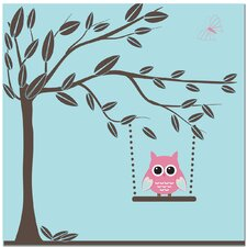 Swinging Owl Canvas Art