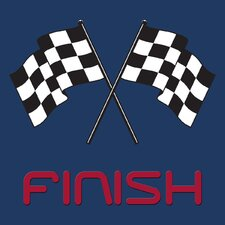 Finish Line Wall Decal
