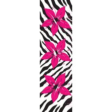 Flower with Zebra Printl Growth Chart