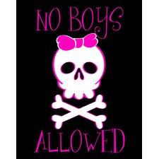 No Boys Allowed Wall Art Print