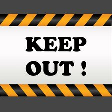 Keep Out Wall Art Print