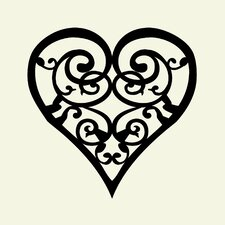 Scroll Heart Wall Art Print