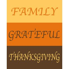 Family, Grateful, Thanksgiving Art Print