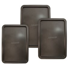 "<strong>Entenmann's Bakeware</strong> Classic 3 Piece 13"" Cookie Sheet Set"
