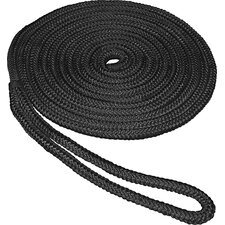"0.375"" x 15' Double Braid Nylon Dockline in Black"