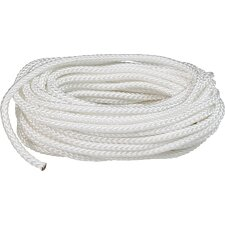 "0.188"" x 50' Braid Nylon Rope in White"