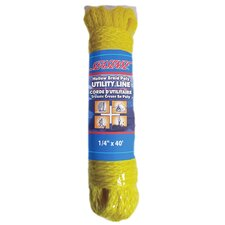 "0.25"" x 40' Hollow Braid Polypropylene Utility Line in Yellow"