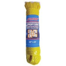 "0.375"" x 20' Hollow Braid Polypropylene Utility Line in Yellow"
