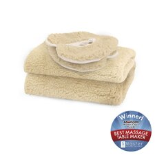 <strong>Master Massage</strong> Fleece Pad in Natural White (2 Piece Set)