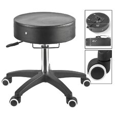 Rolling Stool in Black