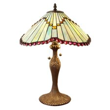 "Mission Style Tiffany 26"" H Table Lamp with Bowl Shade"