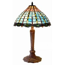 "Dragonfly Accent 26"" H Table Lamp with Bowl Shade"