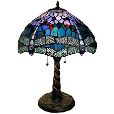 Dragonfly Handcrafted Table Lamp with Bowl Shade
