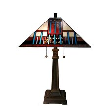 Mission Tiffany Style Table Lamp