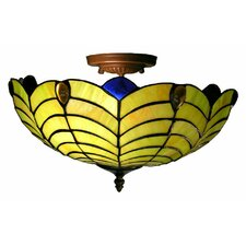 Shell 2 Light Semi Flush Mount