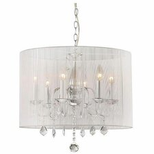 Blanche 6 Light Crystal Chandelier