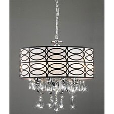 4 Light Crystal Chandelier