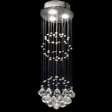 Shower 3 Light Crystal Chandelier