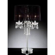 """Victoria 3 Light Crystal 28"""" H Table Lamp"""