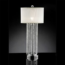 "Crystal 31"" H Table lamp with Drum Shade"