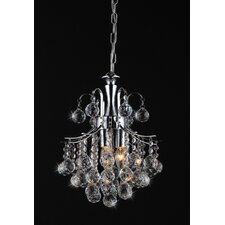 Arden Victorian 3 Light Crystal Chandelier