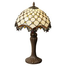 <strong>Warehouse of Tiffany</strong> Jewel Roman Table Lamp