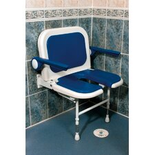 Wide U-Shaped Padded Seat with Back and Arms