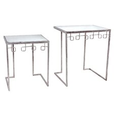 2 Piece Nesting Tables Set