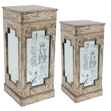 <strong>A&B Home Group, Inc</strong> Pedestal Plant Stand (Set of 2)