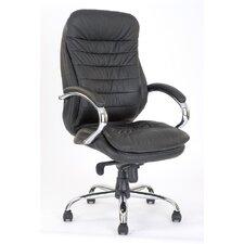 Chefsessel mit hoher Rückenlehne und stilvollem Nahtmuster