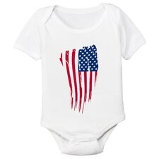 USA Flag Organic Bodysuit