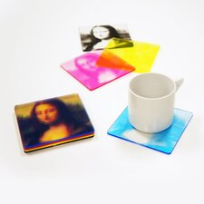 <strong>Molla Space, Inc.</strong> CMYK Printed Coasters (Set of 4)