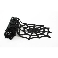 Spooky Party Spiderweb Felt Table Runner