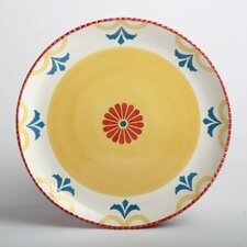 "Beach Dahlia Scalloped Edge 14"" Round Platter"