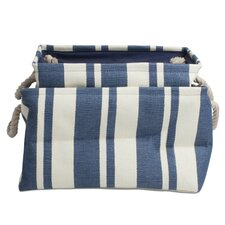 Hudson Stripe Rectangular Crunch Bags (Set of 2)