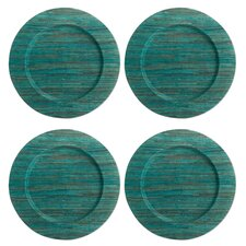 "Textiles 13"" Water Hyacinth Charger (Set of 4)"