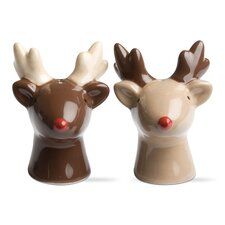 Woodland 2 Piece Reindeer Salt and Pepper Shaker Set