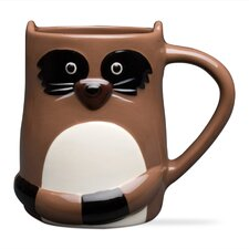 Riley Raccoon Ceramic Mug (Set of 2)