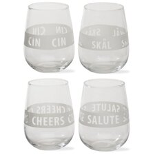 Viva Scandinavia Stemless Wine Glass (Set of 4)