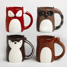 Foxy Fall Creature Mug (Set of 4)