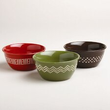 "Foxy Fall 5"" Prep Bowl (Set of 3)"