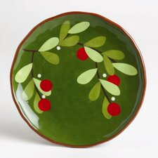 "Jardin Christmas 8"" Cranberries Appetizer Plate (Set of 4)"