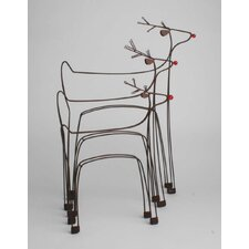 Prancing Reindeer (Set of 3)